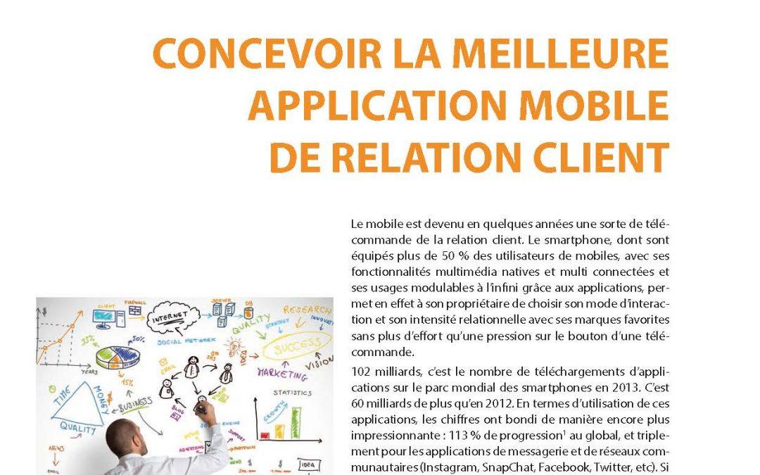 Concevoir la meilleure application mobile de relation client