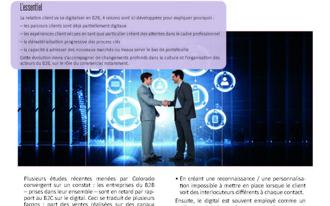 Quand la Relation Client B2B se digitalise
