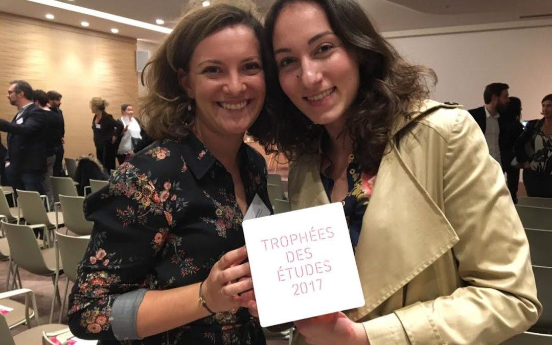 Trophée des études SYNTEC 2017 : ConsumerLab de nouveau à l'honneur